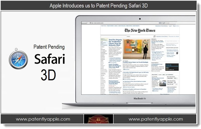1. Apple Introduces us to Patent Pending Safari 3D