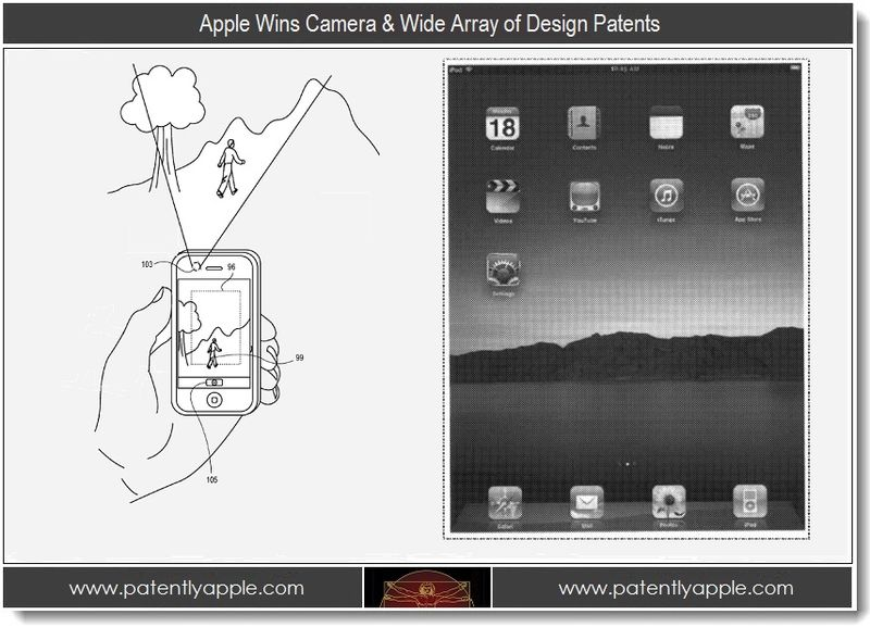 1. Apple Wins Camera & Wide Array of Design Patents