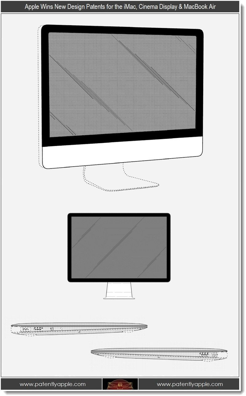 2. Apple Wins New Design Patents for iMac, Cinema Display & MacBook Air
