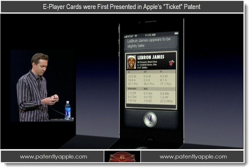 4 - E-Player Cards were first Presented in Apple's Ticket Patent