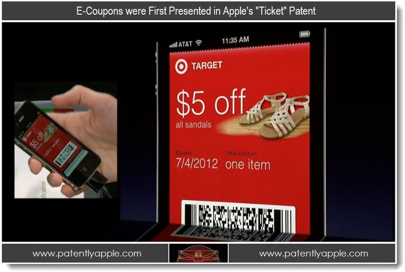 5 - E-Coupons first presented in Apple's Ticket Patent