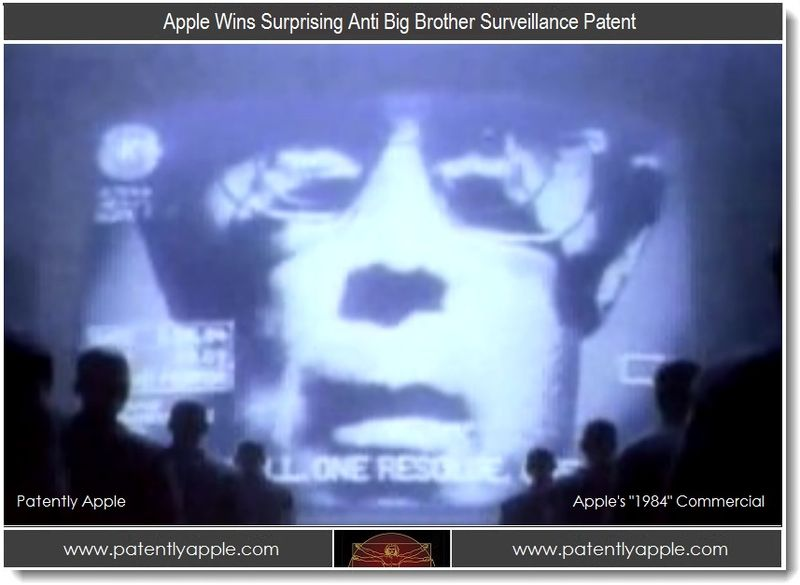 1. Apple Wins Anti Big Brother Surveillance Patent