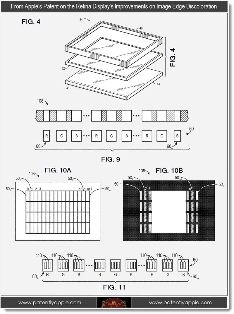 3. Apple's patent on the Retina Display's improvements on image edge discoloration
