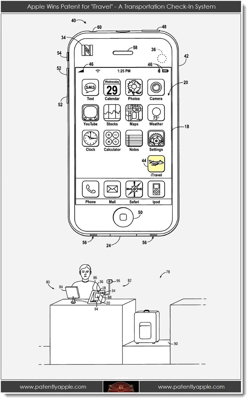 2. Apple wins iTravel Patent
