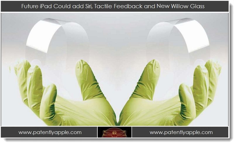 1AA. Future iPad could add siri, tactile feedback & New willow glass