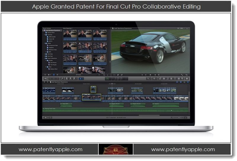 1. Apple Granted Patent for Final Cut Pro Collaborative Editing