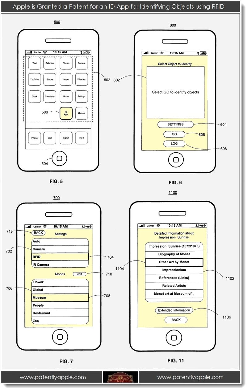 3. Apple is Granted a Patent for an ID App for Identifying Objects using RFID