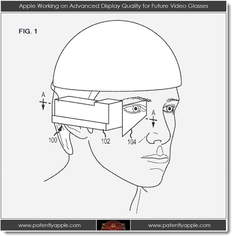 2. large FIG. 1 - Apple Video Glasses patent