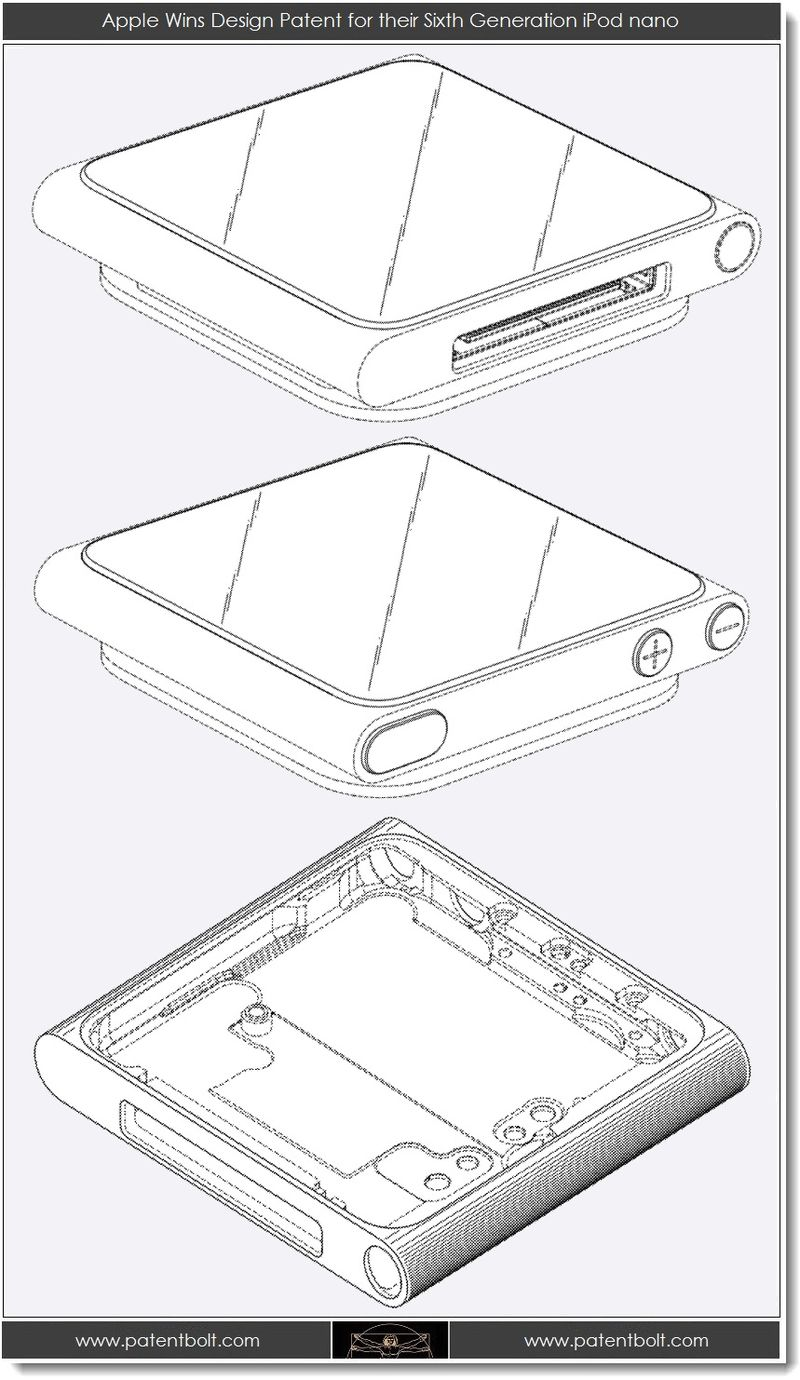 4. Apple Wins Design Patent for their 6th Gen iPod nano