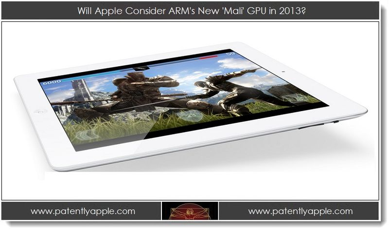 1. Will Apple Consider ARM's New Mali GPU in 2013