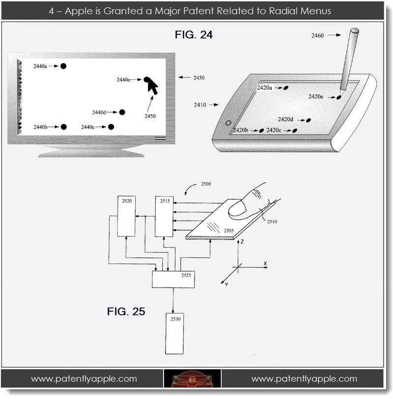 5. Apple is granted a major patent relating to radial menus