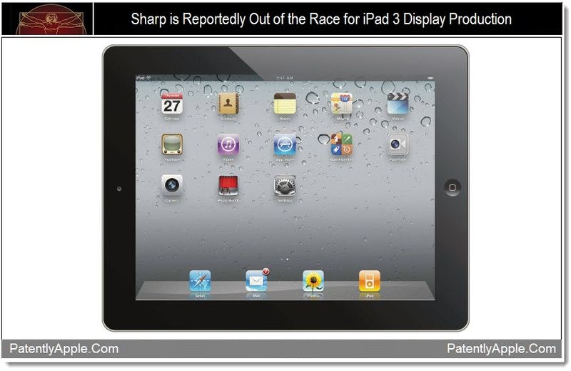 1 - Sharp is Reportedly out of the race for iPad 3 display production