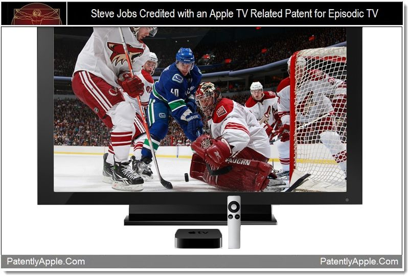 1 - Steve Jobs credited with Apple TV patent for episodic TV, Jan 2012