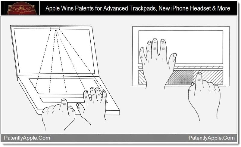 1 - Apple Wins Patents for Advanced Trackpads, New iPhone Headset & More