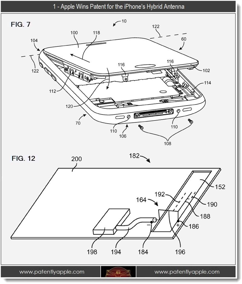 3 - 1 -  Apple wins patent for the iPhone's hybrid antenna