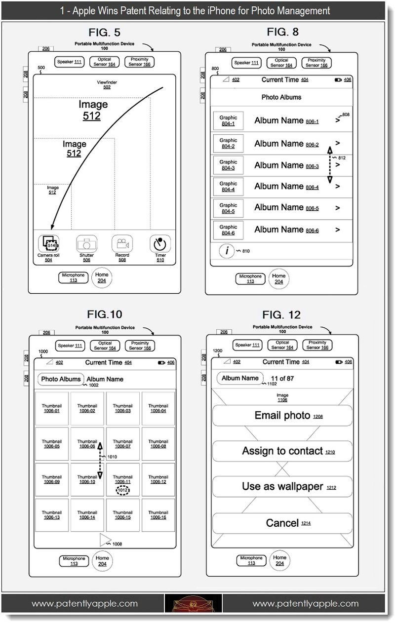 5 - 1 - Apple wins patent re iPhone Photo Management