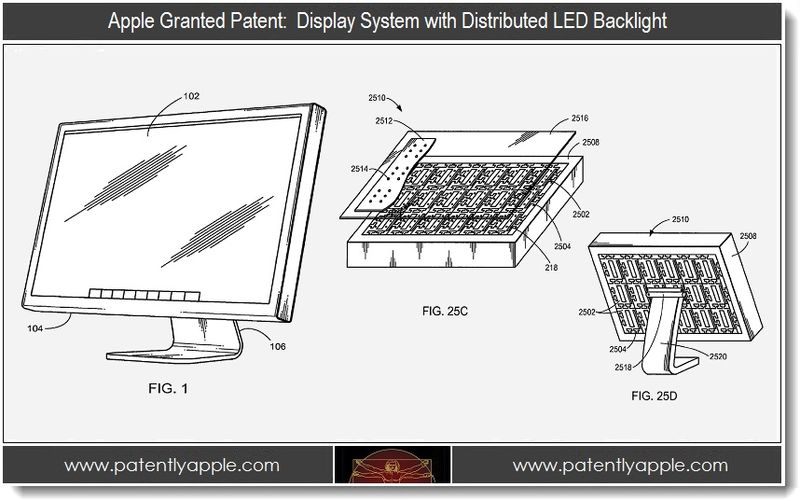 Extra - Apple wins patent for display system with distributed LED Backlight