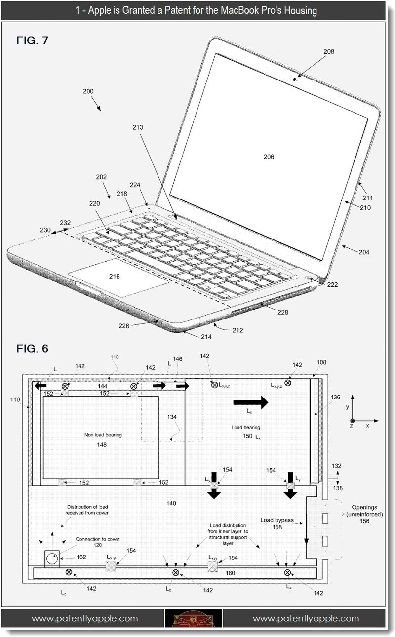 2 - 1 - Apple atent for MacBook Pro Housing