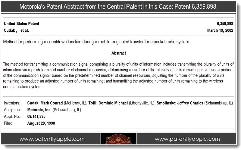 2 - Motorola's patent abstract for 6,359,898