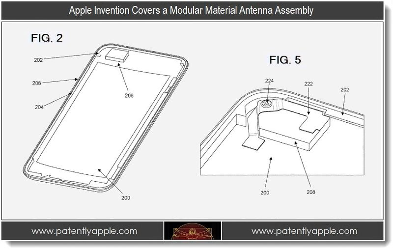 4 - Apple invention, modular material antenna assembly