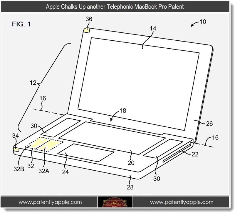 3 - Apple patent re antenna for telephonic macbook pro