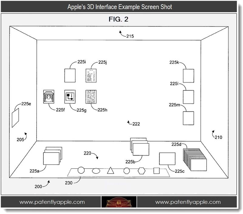 2 - Apple's 3D interface example screen shot