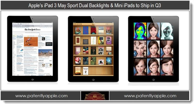 1 - Apple's iPad 3 May Sport Dual Backlights & Mini iPads to Ship in Q3