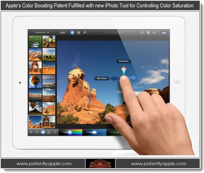 8 Color Boosting added to new iPhoto allowing color saturation control