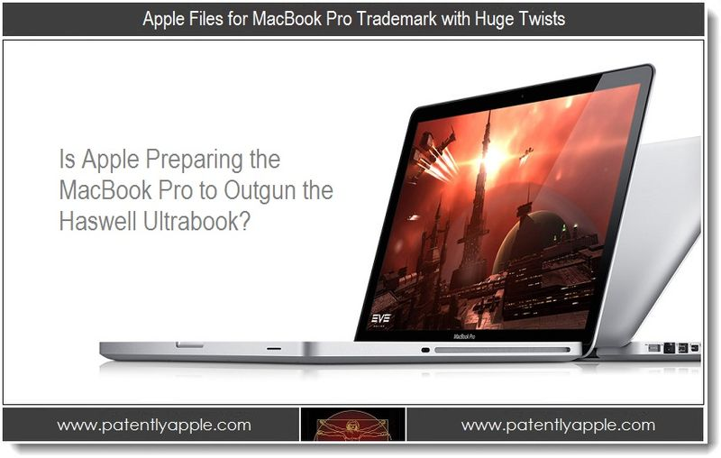 1 - Apple Files for MacBook Pro Trademark with Huge Twists