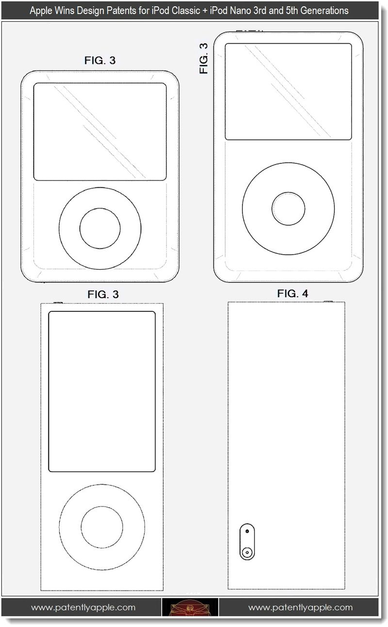 3 - Apple design wins, ipod classic + ipod nano 3rd and 5th generations