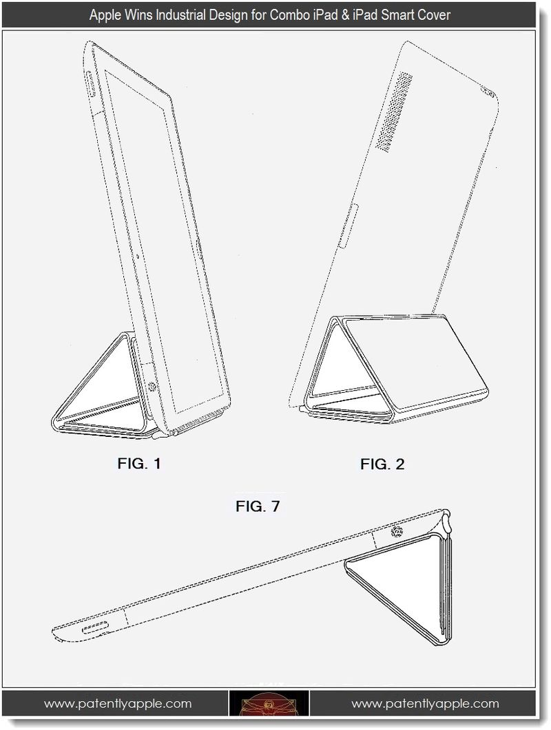 2 - Apple wins industrial design for iPad + iPad Smart Cover Combo