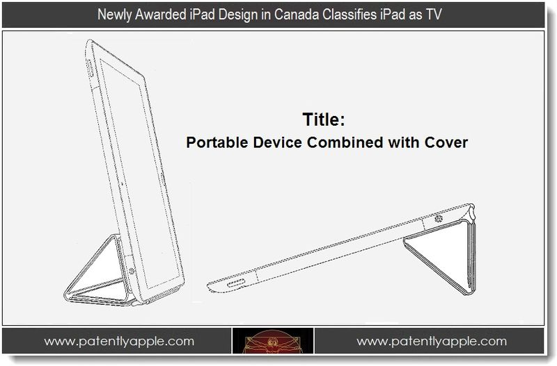 1 - Newly Awarded iPad Design in Canada Classifies iPad as TV