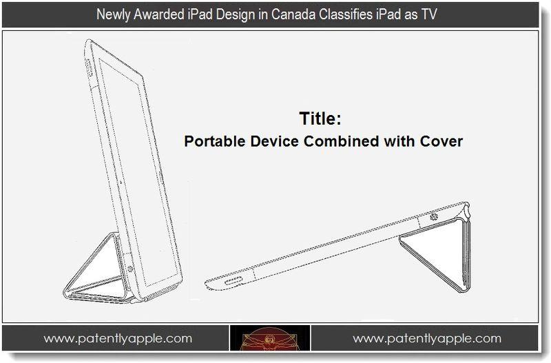 1 - Newly Awarded iPad Design in Canada Classifies iPad as TV