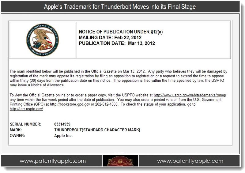 2 - Apple's Trademark for Thunderbolt Moves into its Final Stage