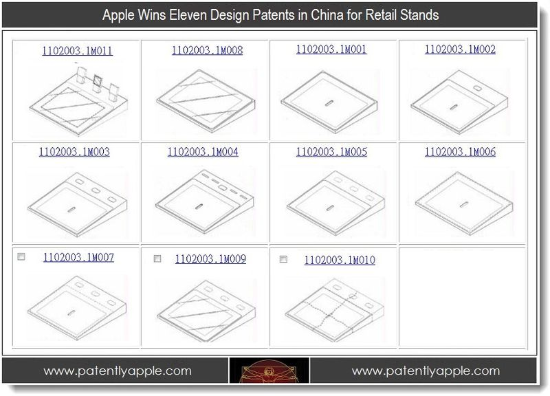1 - Apple wins 11 design patents in China for Retail Stands