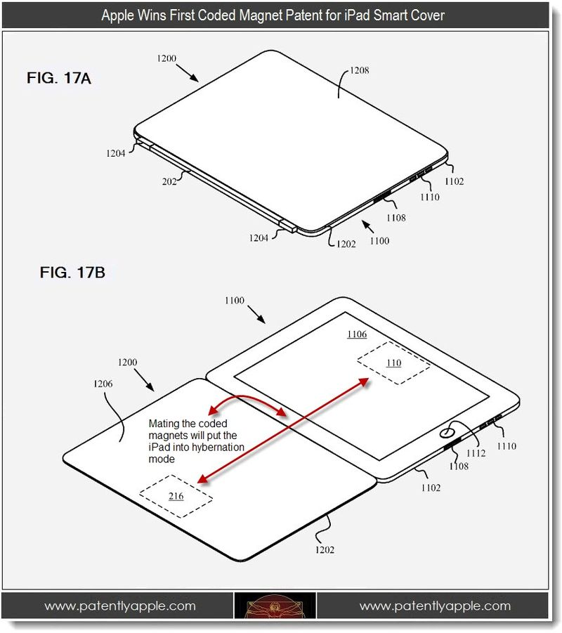 2 - Apple wins first coded magnetic patent for iPad Smart Cover
