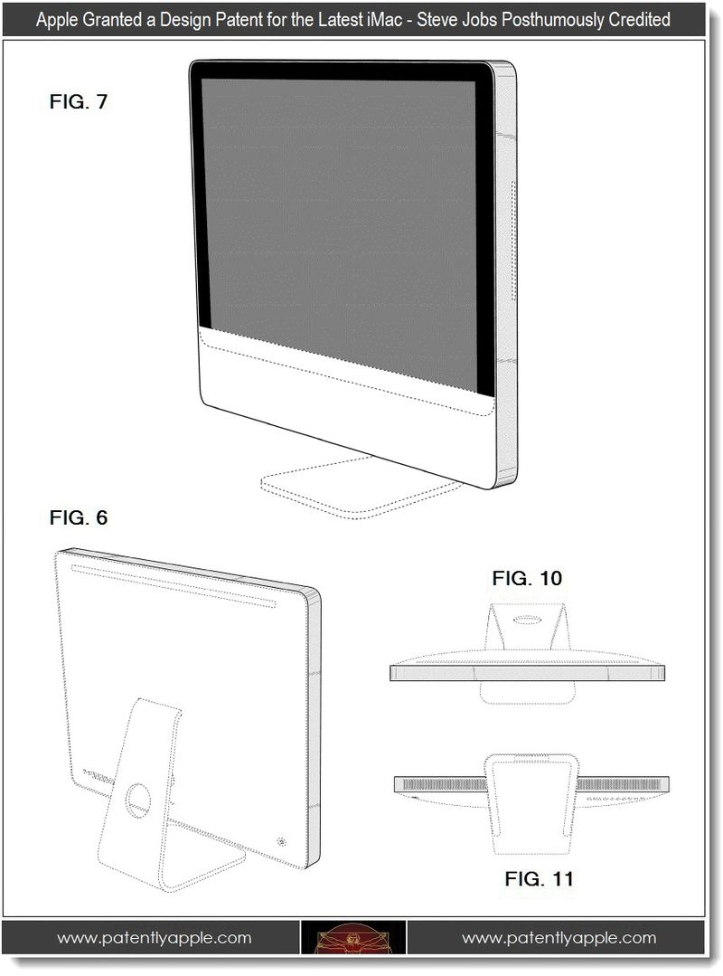 2 - Apple granted design Patent for latest iMac, Steve Jobs Posthumously Credited