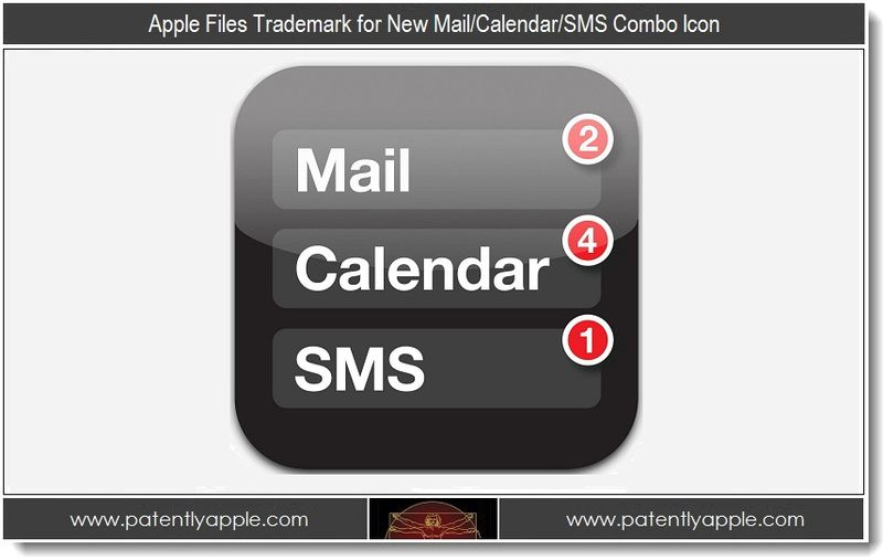 1 - Apple Files Trademark for New Mail,Calendar,SMS Combo Icon