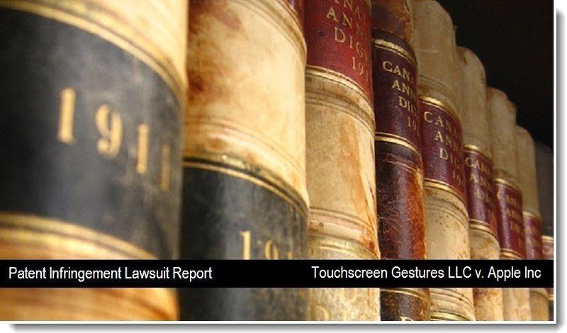 1 - Touchscreen Gestures LLC v. Apple