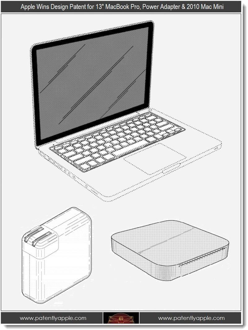 4 - Apple wins design patents, 13 macbook pro, power adapter, mac mini 2010