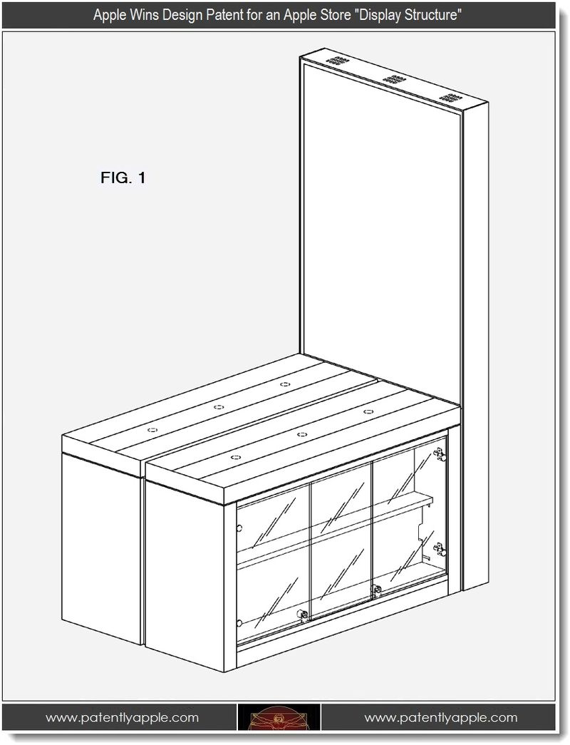4 - Apple Wins design patent for an Apple Store Display Structure
