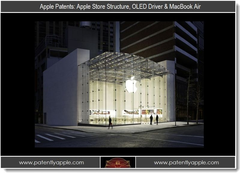 1 - Apple Patents - Apple Store structure, OLED driver & Macbook Air