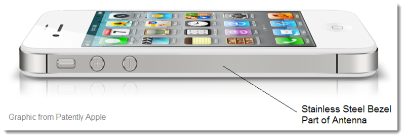 3. Apple Wins patent for the iPhone 4's stainless steel bezel antenna