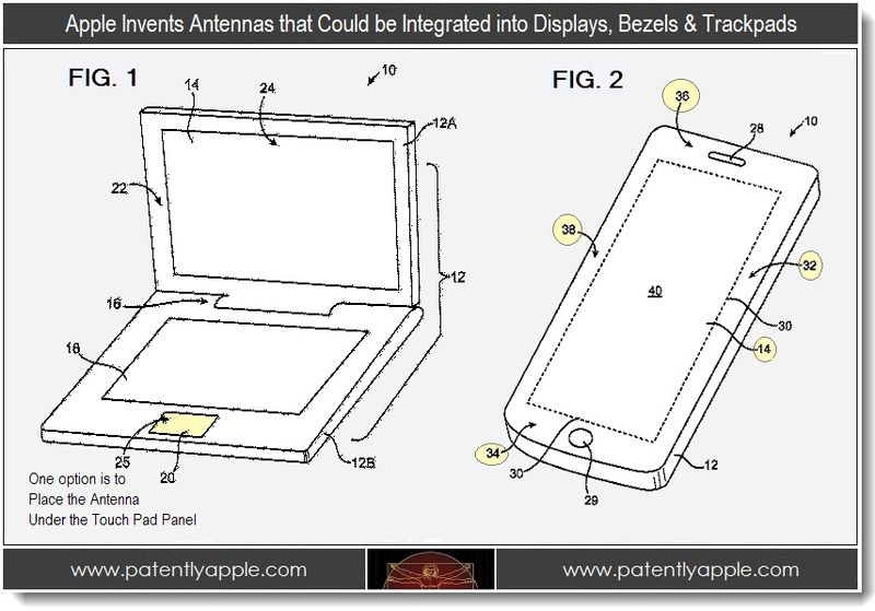 2 - Apple invents antennas that could be integrated into displays, bezels & trackpads