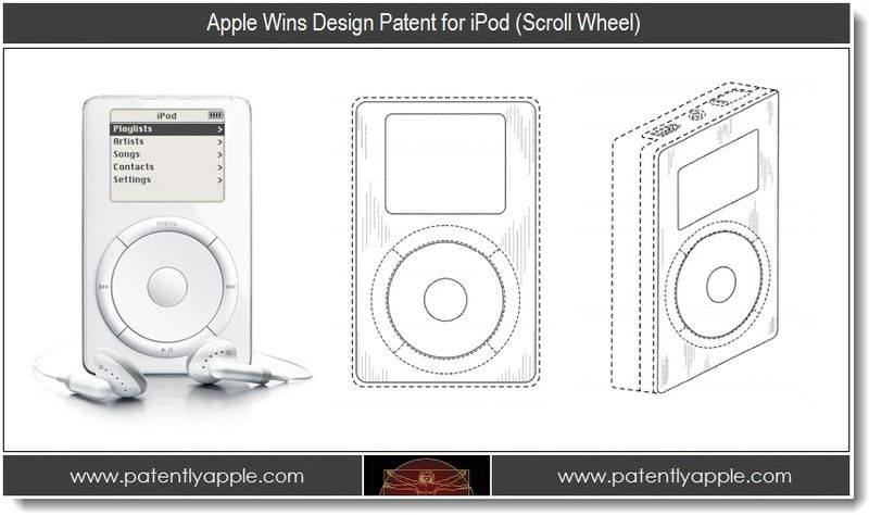 4. Apple wins design patent for iPod - scroll wheel