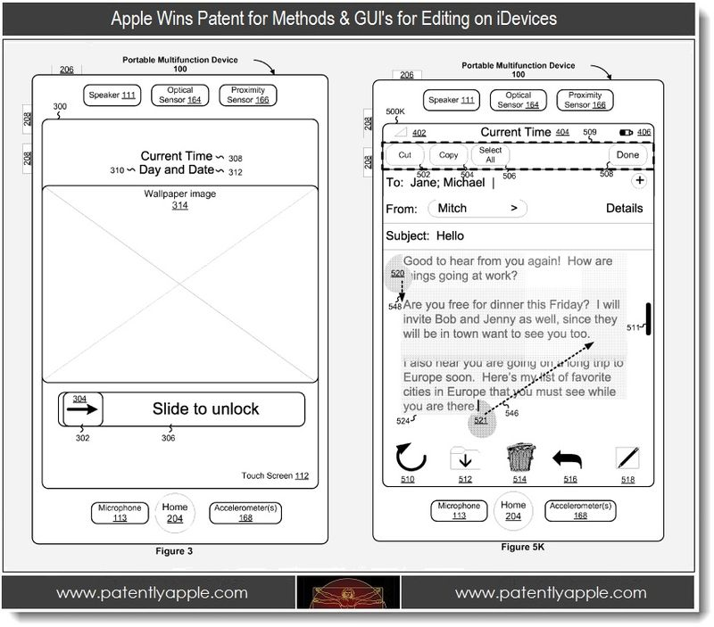 2. Apple Wins Patent for Methods & GUI's for Editing on iDevices