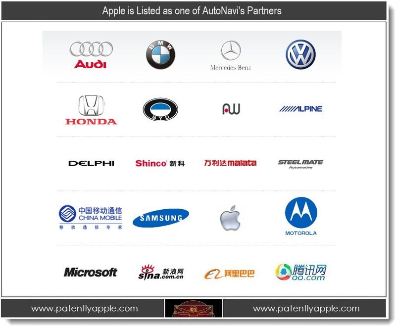 3. Apple Listed as one of AutoNavi's Partners