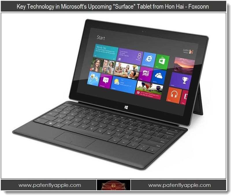 2. Key Technology in Msft's Surface tablet from Hon Hai - Foxconn