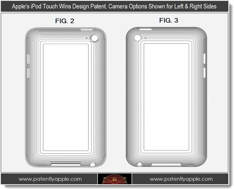 4. Apple's iPod touch wins design patent. Camera options shown left & Right sides