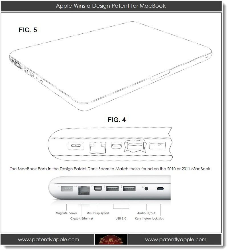 6. Apple Wins a Design Patent for MacBook